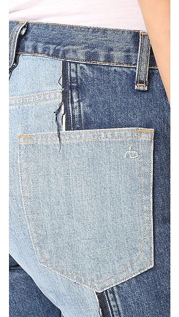Rag & Bone/JEAN 2 Tone Crop Jeans