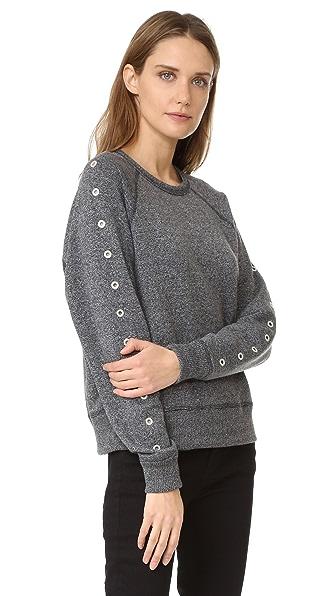 Rag & Bone/JEAN Классический пуловер с отделкой люверсами