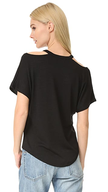 Rag & Bone/JEAN Cutout Short Sleeve Tee