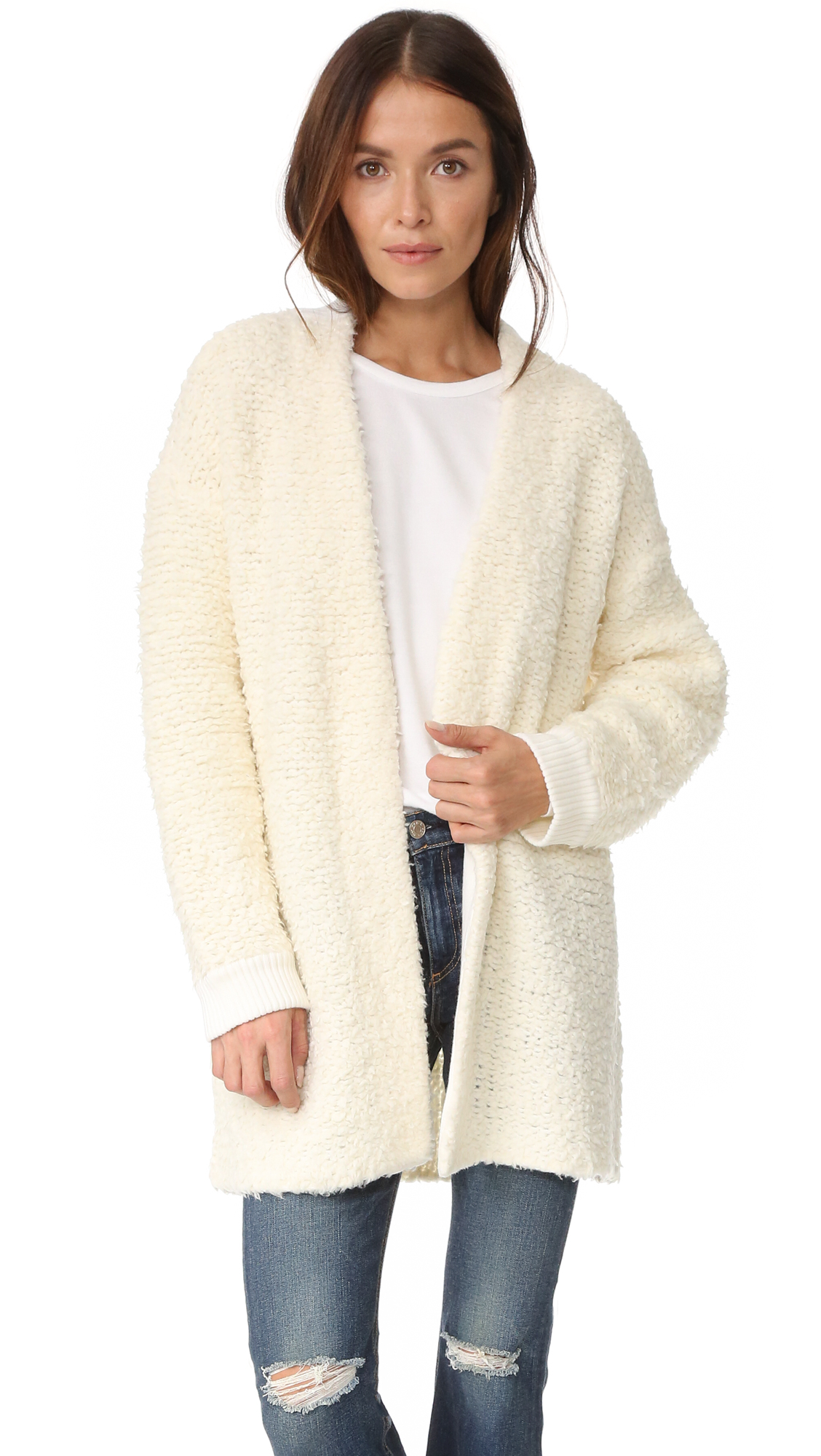 rag bonejean female rag bonejean cora sweater coat ivory