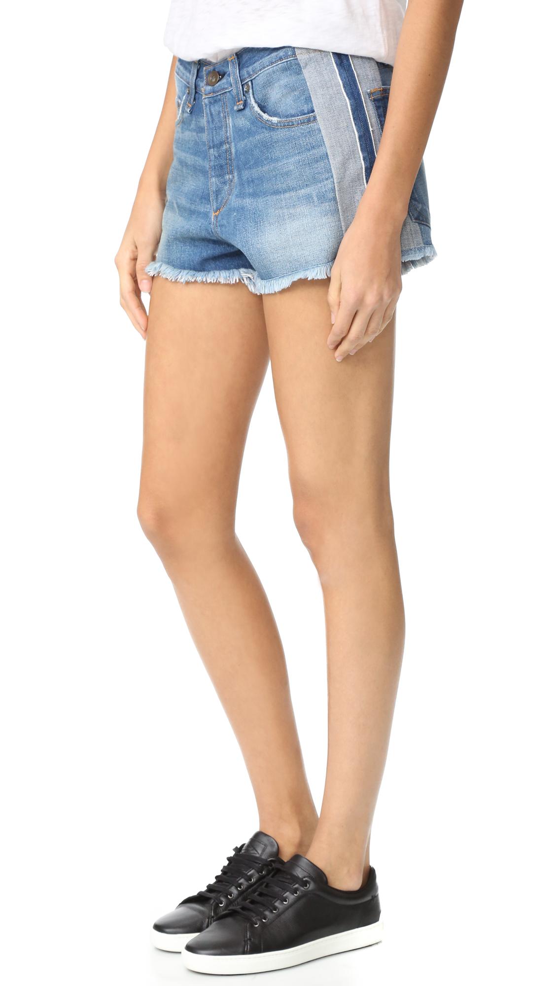 rag bonejean female rag bonejean marilyn shorts reverse