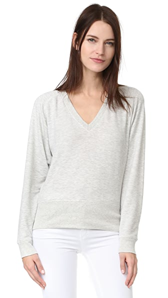 Rag & Bone/JEAN Cozy Pullover - Heather Grey