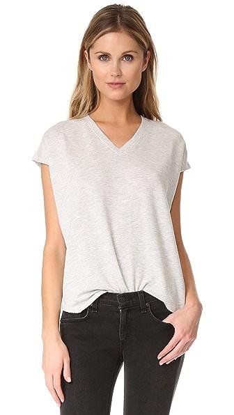 Rag & Bone/JEAN Cozy Vee Sweatshirt In Heather Grey