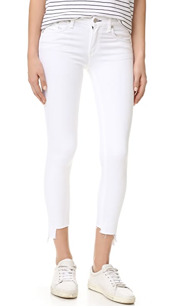 Rag & Bone/JEAN The Capri Jeans with High Low Hem