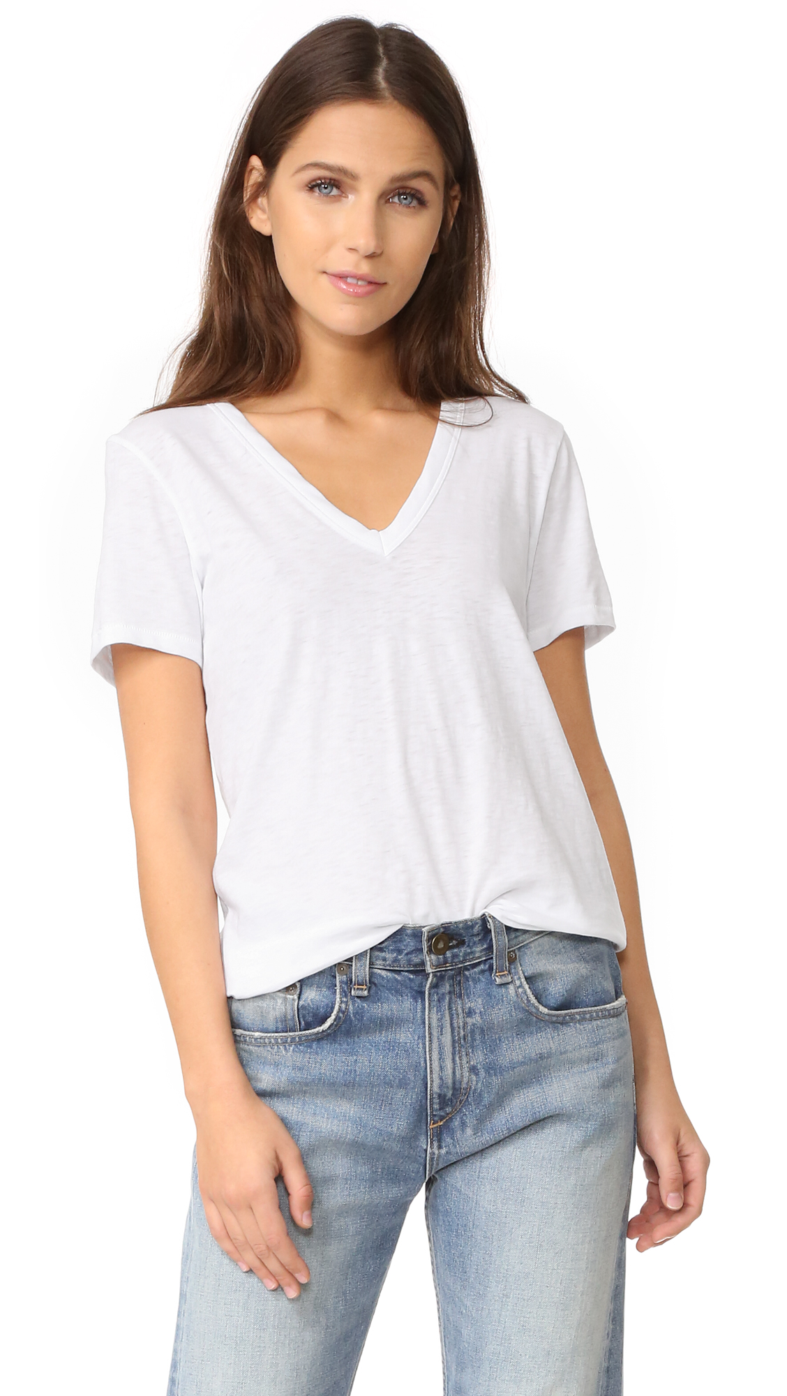 Rag & Bone/JEAN The Vee Tee - Bright White