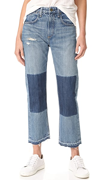 Rag & Bone/JEAN Marilyn Buckle Back Jeans - Albright