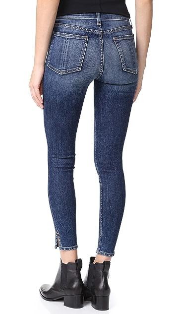 Rag & Bone/JEAN Stud Cadiz Skinny Jeans