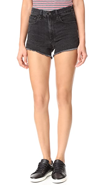 Rag & Bone/JEAN Justine Shorts - Washed Black