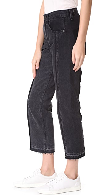 Rag & Bone/JEAN Two Tone Crop Jeans