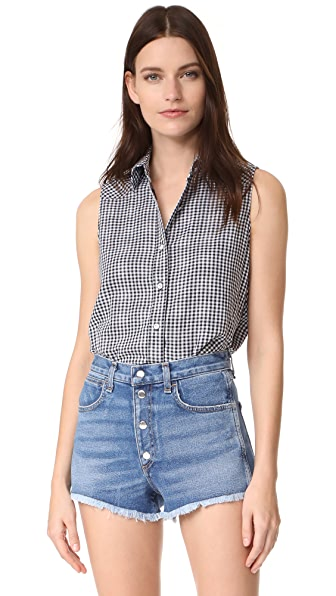 Rag & Bone/JEAN Gingham Mojave Top