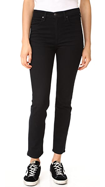 Rag & Bone/JEAN Cigarette Jeans - Coal