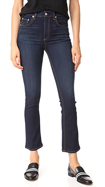 Rag & Bone/JEAN The Hana High Rise Cropped Jeans - Bedford