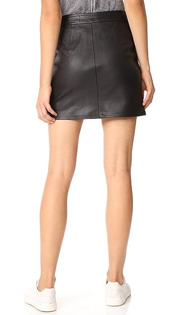 Rag & Bone/JEAN Leather Racer Skirt