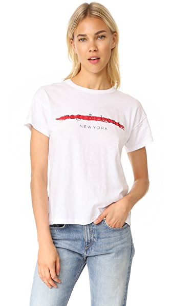 Rag & Bone/JEAN Logo Tee In White