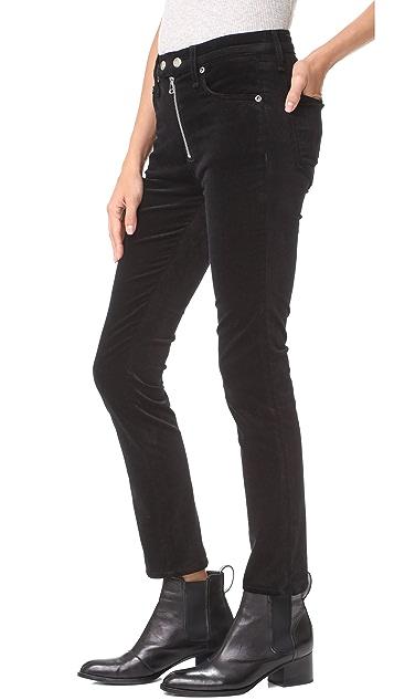 Rag & Bone/JEAN Velvet Dojo Pants