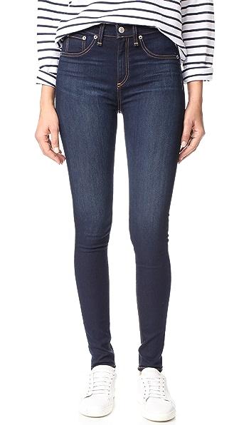 Rag & Bone/JEAN High Rise Skinny Jeans - Bedford