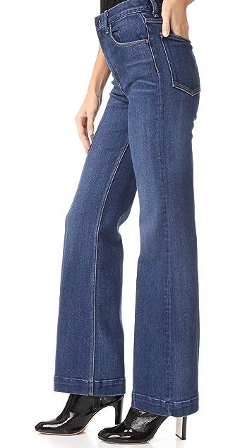Rag & Bone/JEAN Justine Wide Leg Trouser Jeans