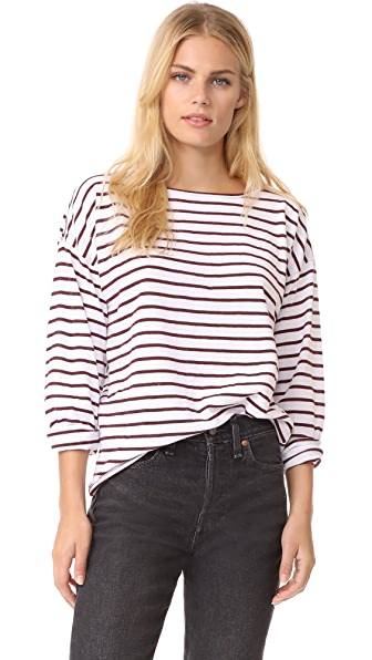 Rag & Bone/JEAN Dakota Long Sleeve - Port Stripe-1