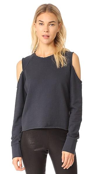 Rag & Bone/JEAN Standard Issue Slash Pullover In Washed Black