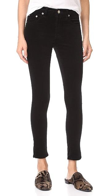 Rag & Bone/JEAN High Rise Skinny Velvet Ankle Pants
