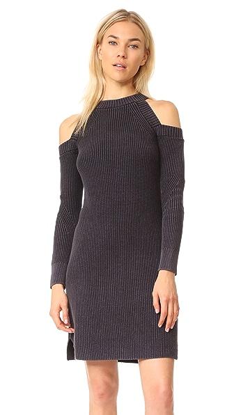 Rag & Bone/JEAN Dana Cold Shoulder Dress In Black