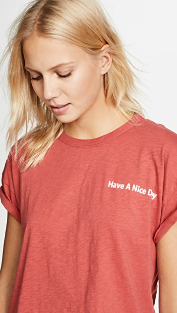 Rag & Bone/JEAN Have A Nice Day Crew Tee