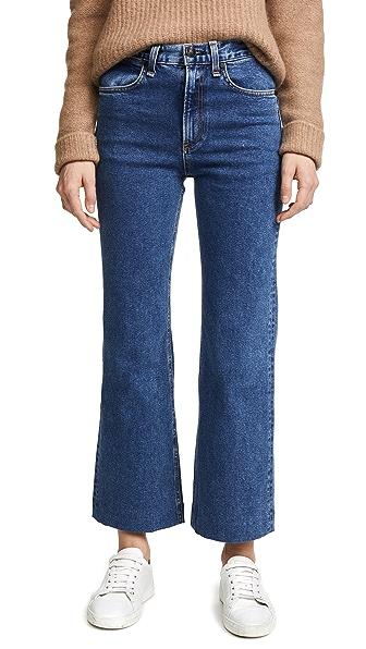 Rag & Bone/JEAN Ankle Justine Trouser Jeans In Stone