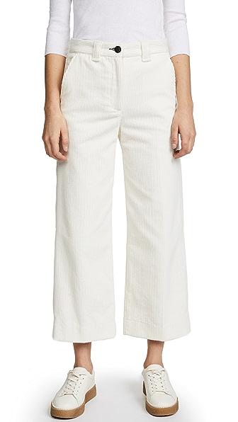Rag & Bone/JEAN Lari Corduroy Pants In White