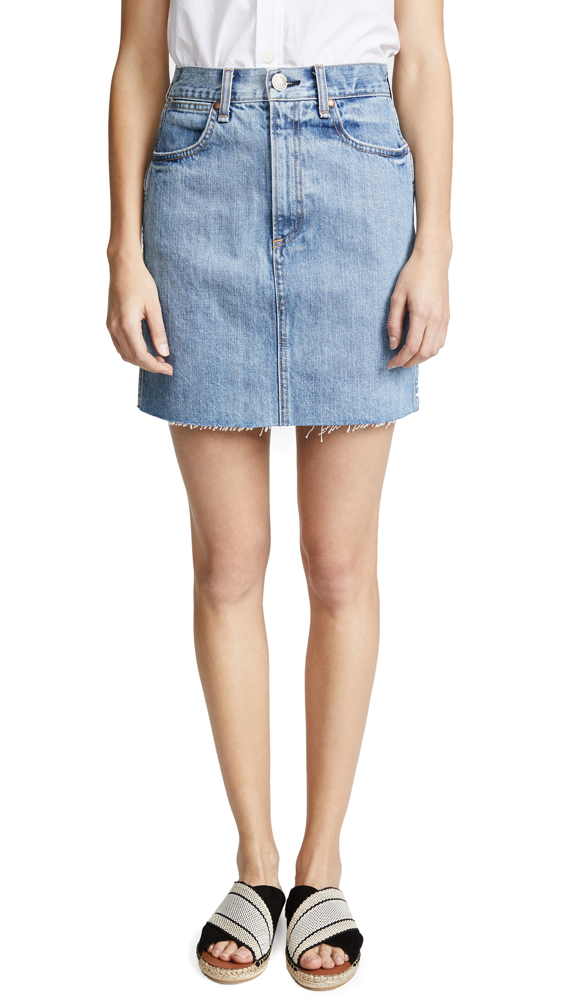 Rag & Bone/JEAN Moss Skirt In Clean Levee