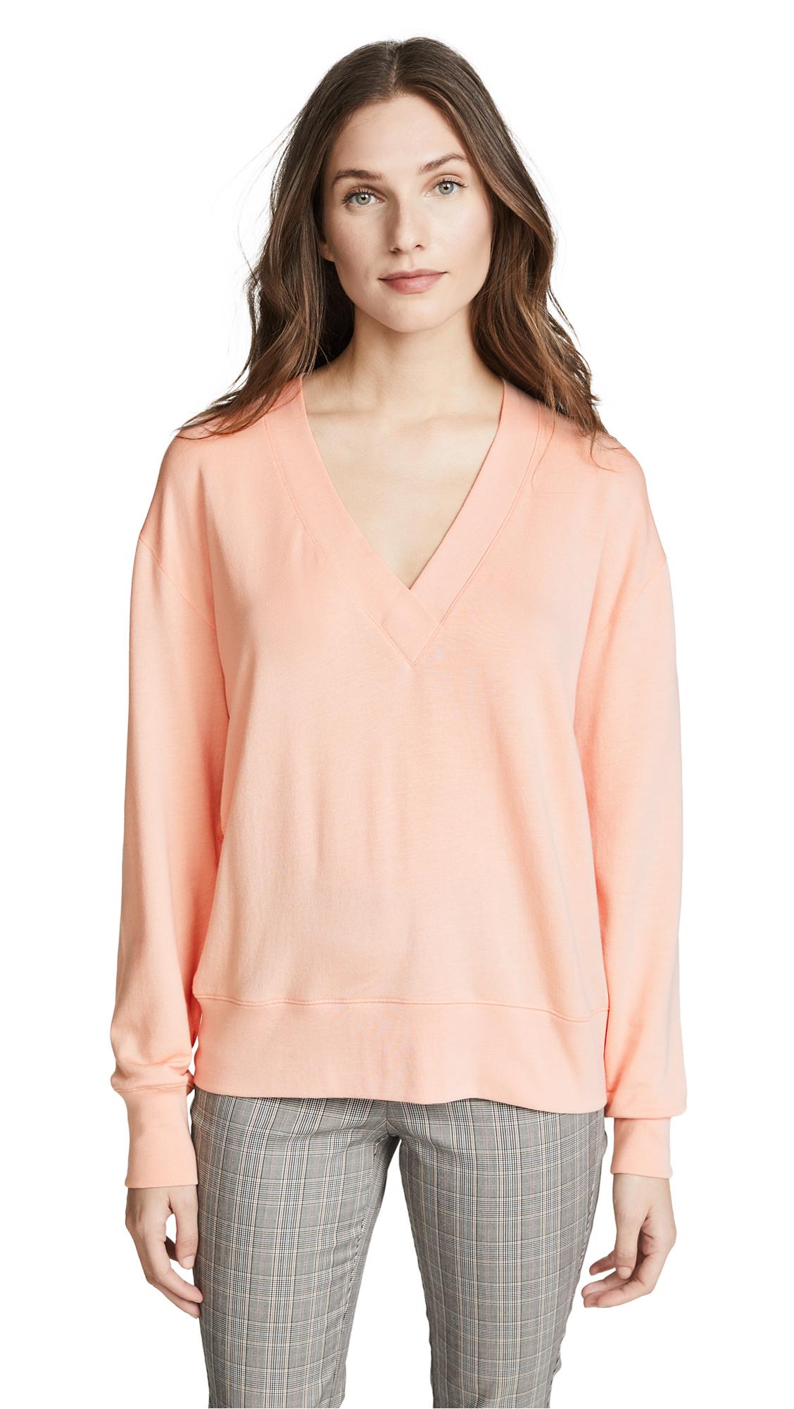 Rag & Bone/JEAN Flora Pullover In Pink Rose