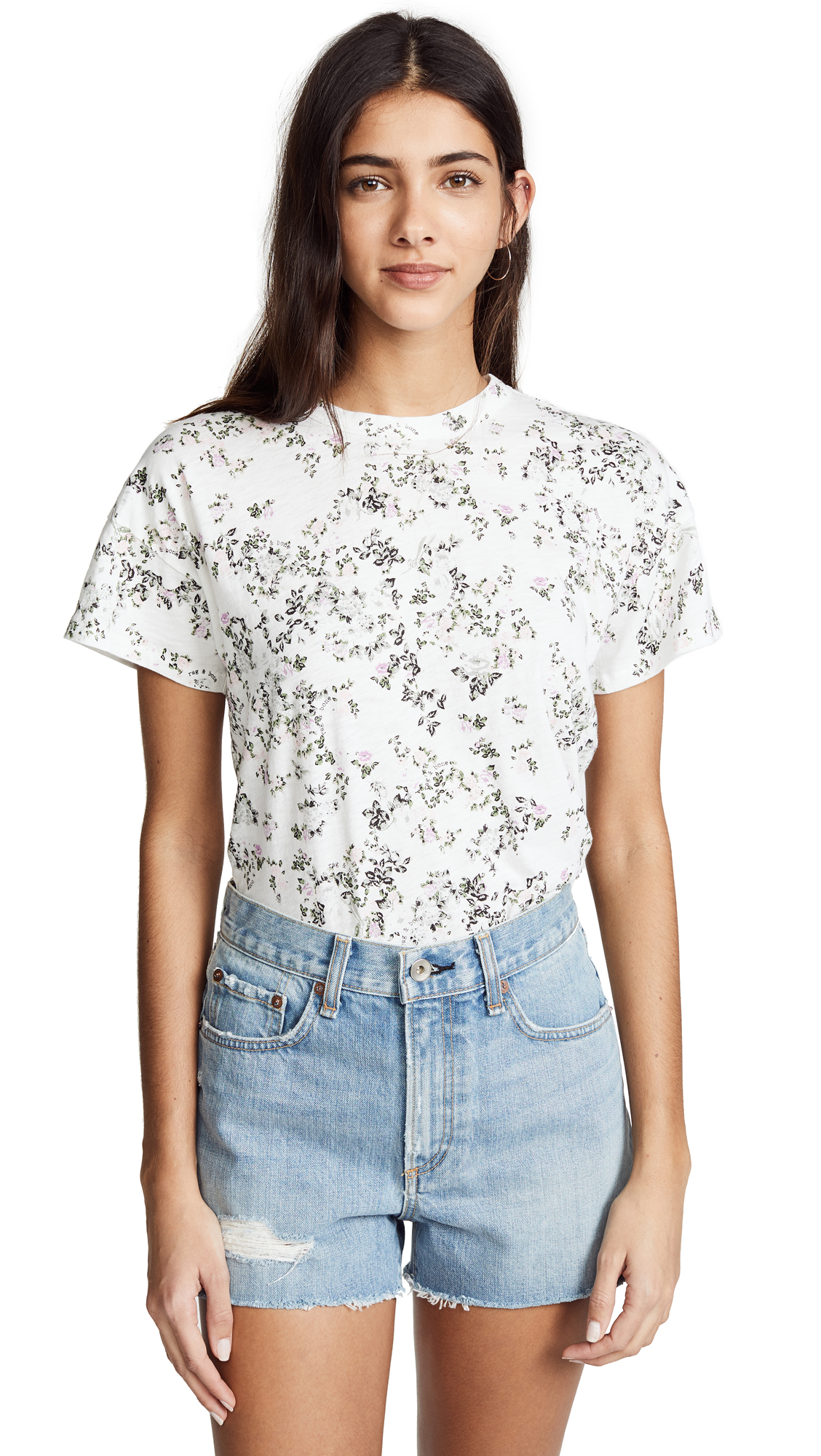 FLORAL CREW TEE