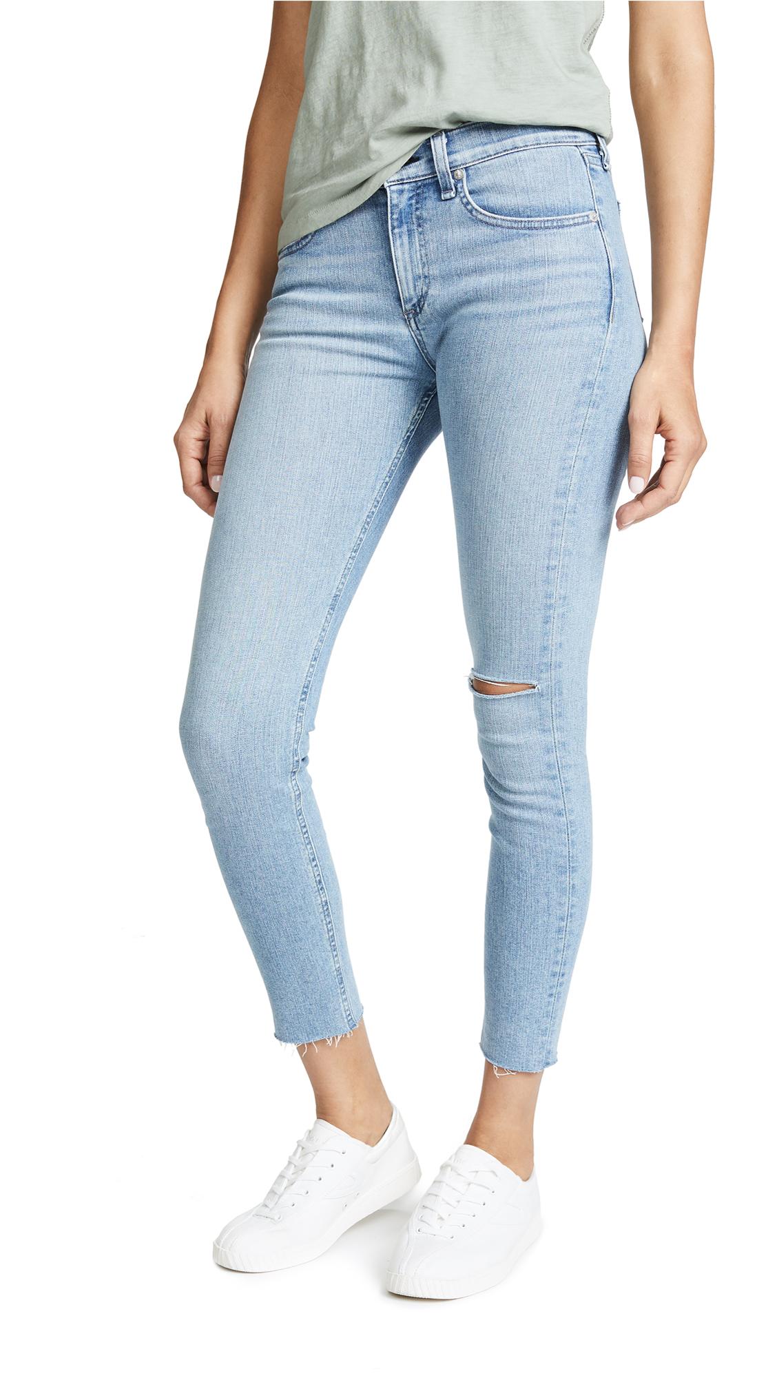 Rag & Bone/JEAN Ankle Skinny Jeans In Lena