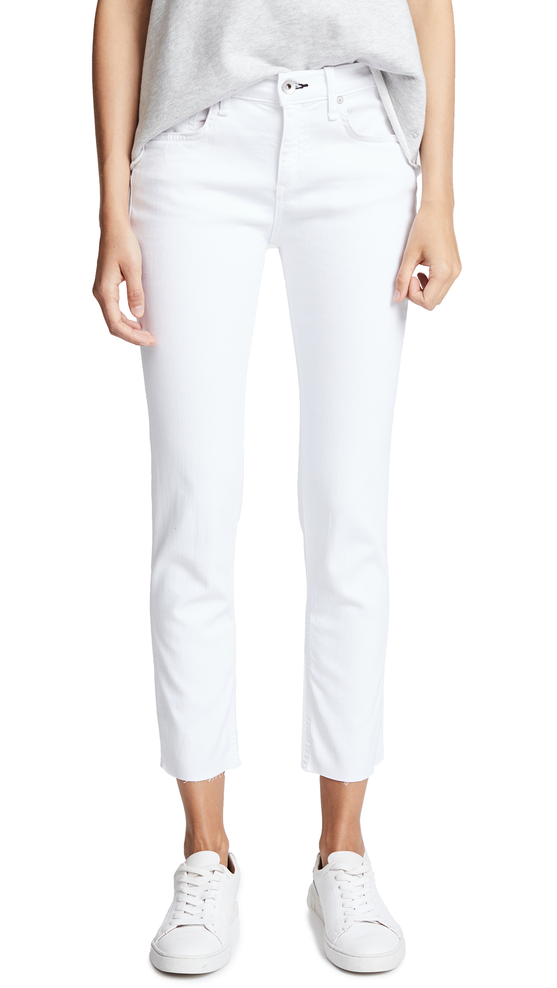 Rag & Bone/JEAN The Ankle Dre Slim BF Jeans In White