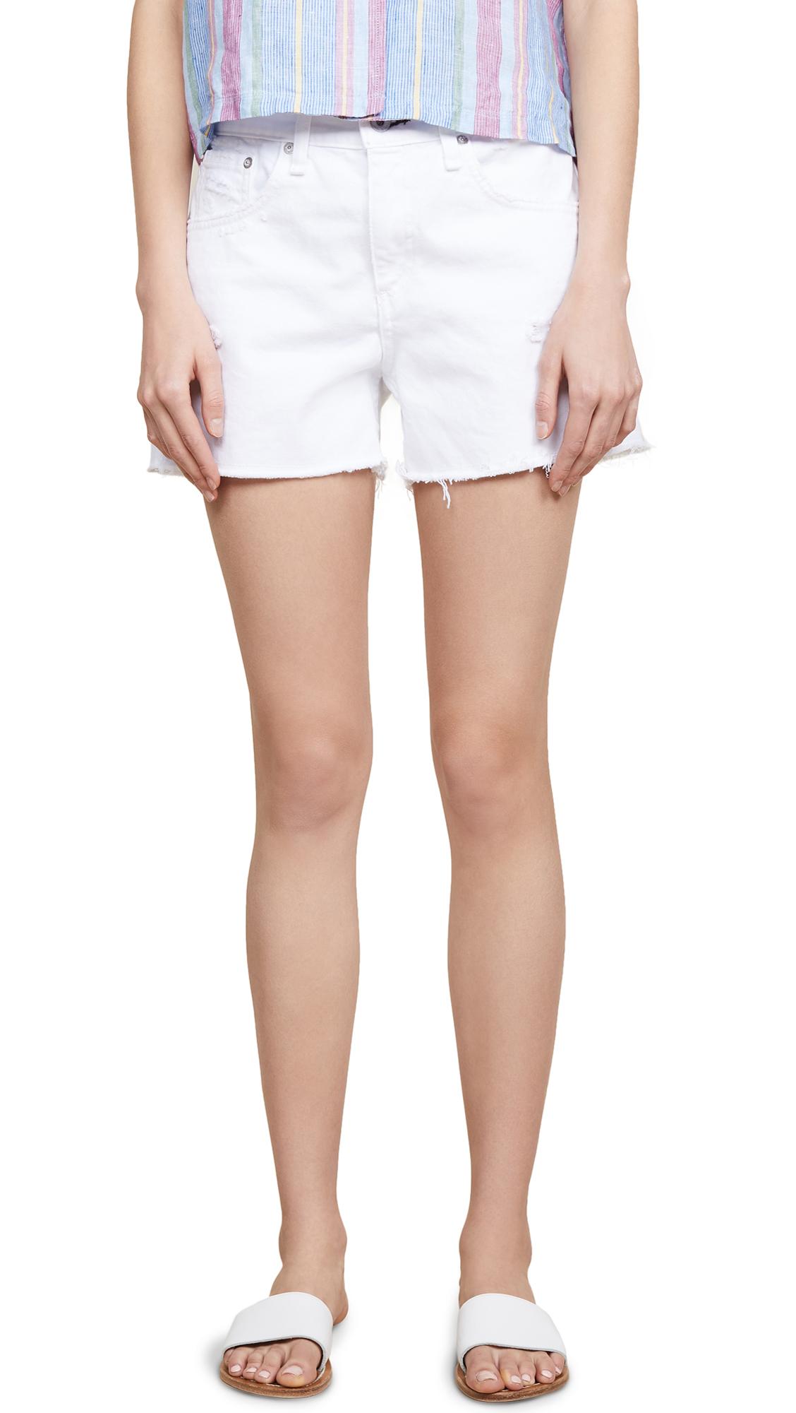Rag & Bone/JEAN Boy Shorts In White Martini