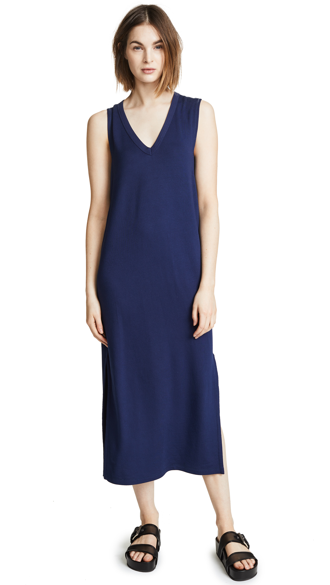 Rag & Bone/JEAN Phoenix V Neck Dress In Royal Blue