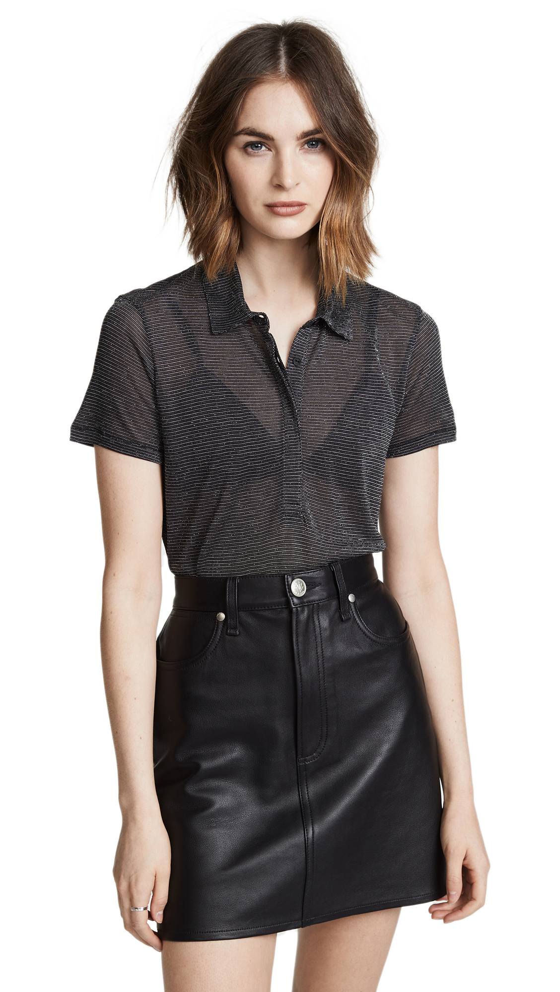 Rag & Bone/JEAN Dawson Polo Shirt In Black