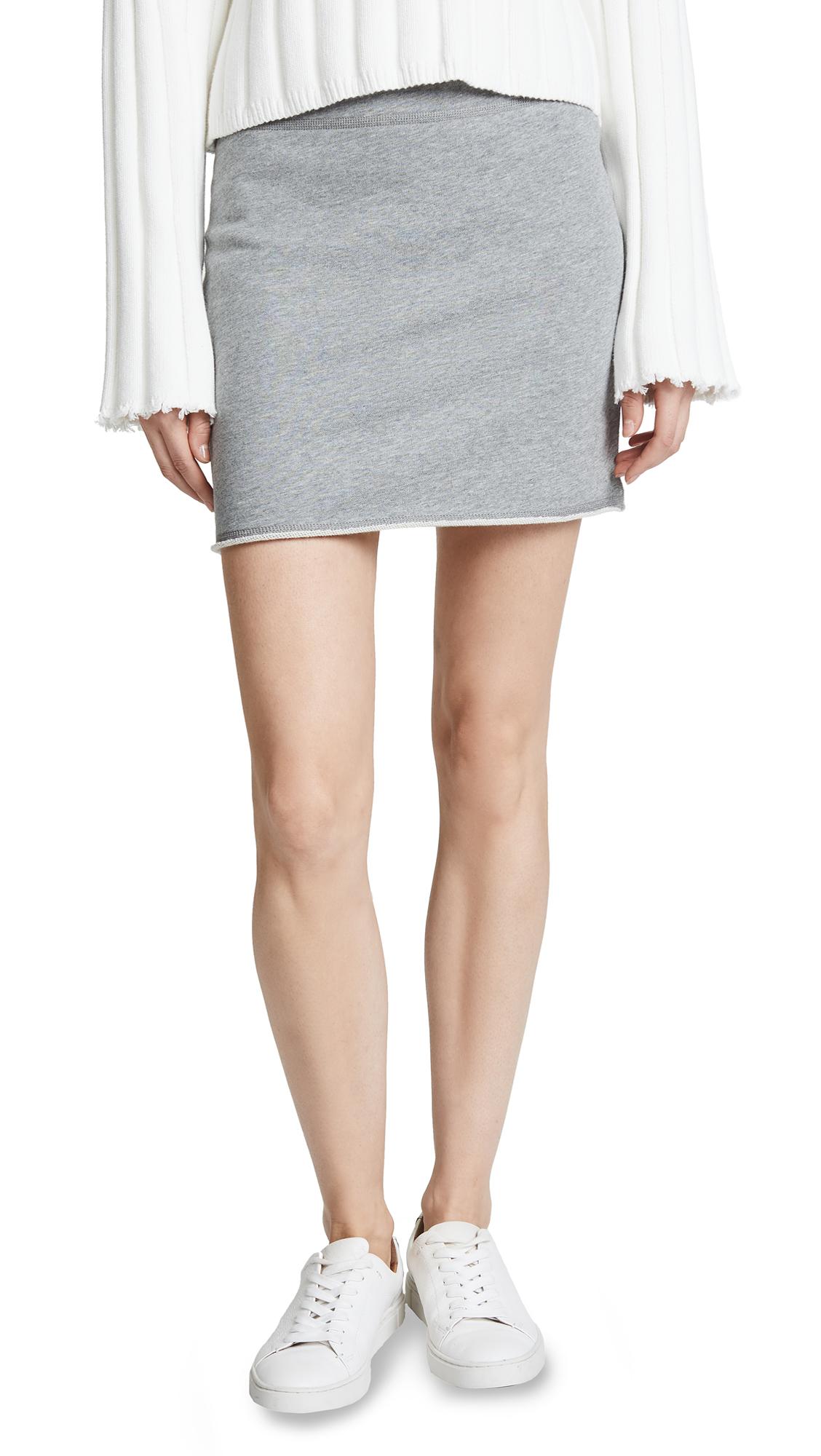 Rag & Bone/JEAN Marlie Skirt In Heather Grey