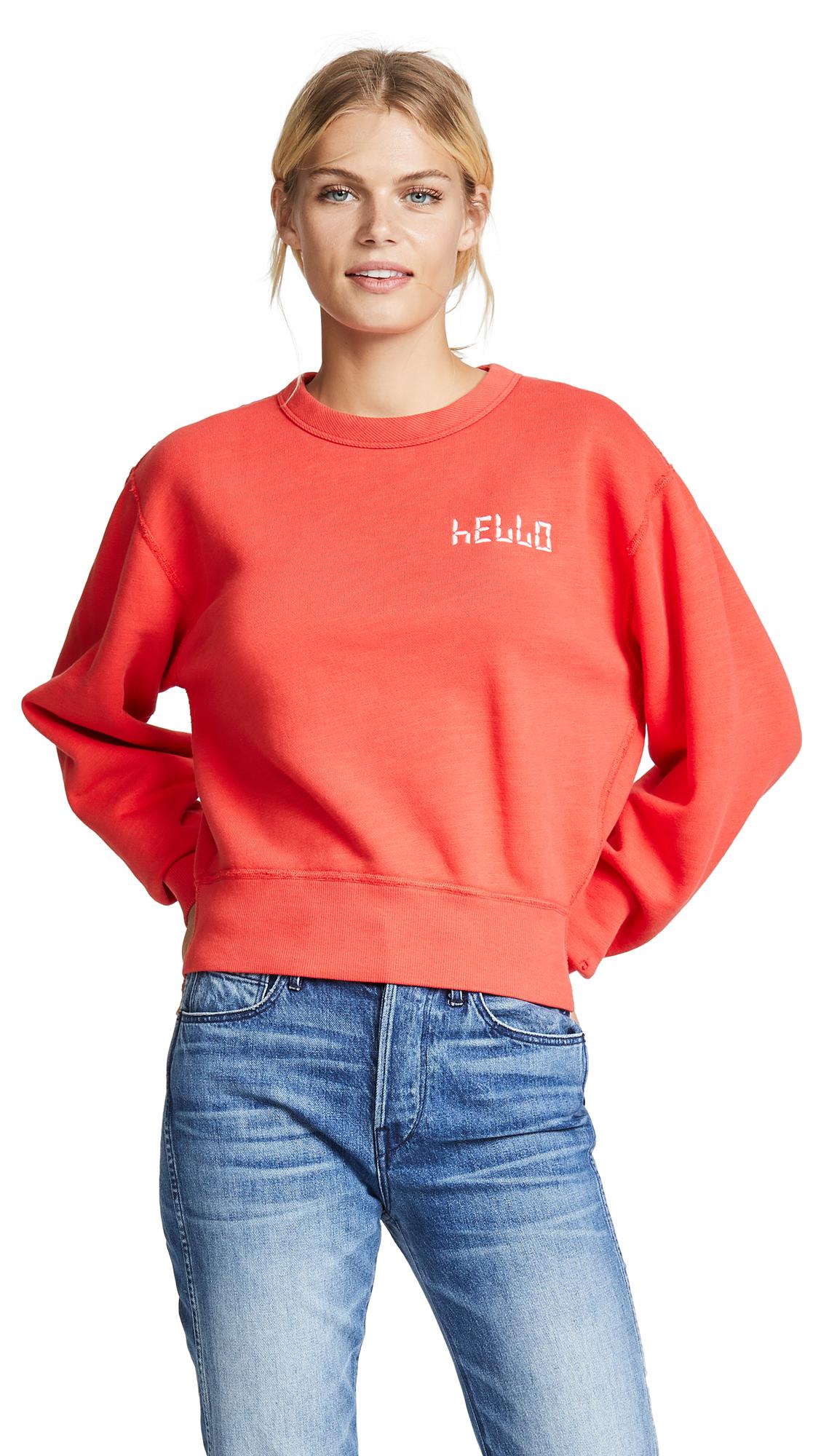 Rag & Bone/JEAN HELLO Sweatshirt In Candy Apple