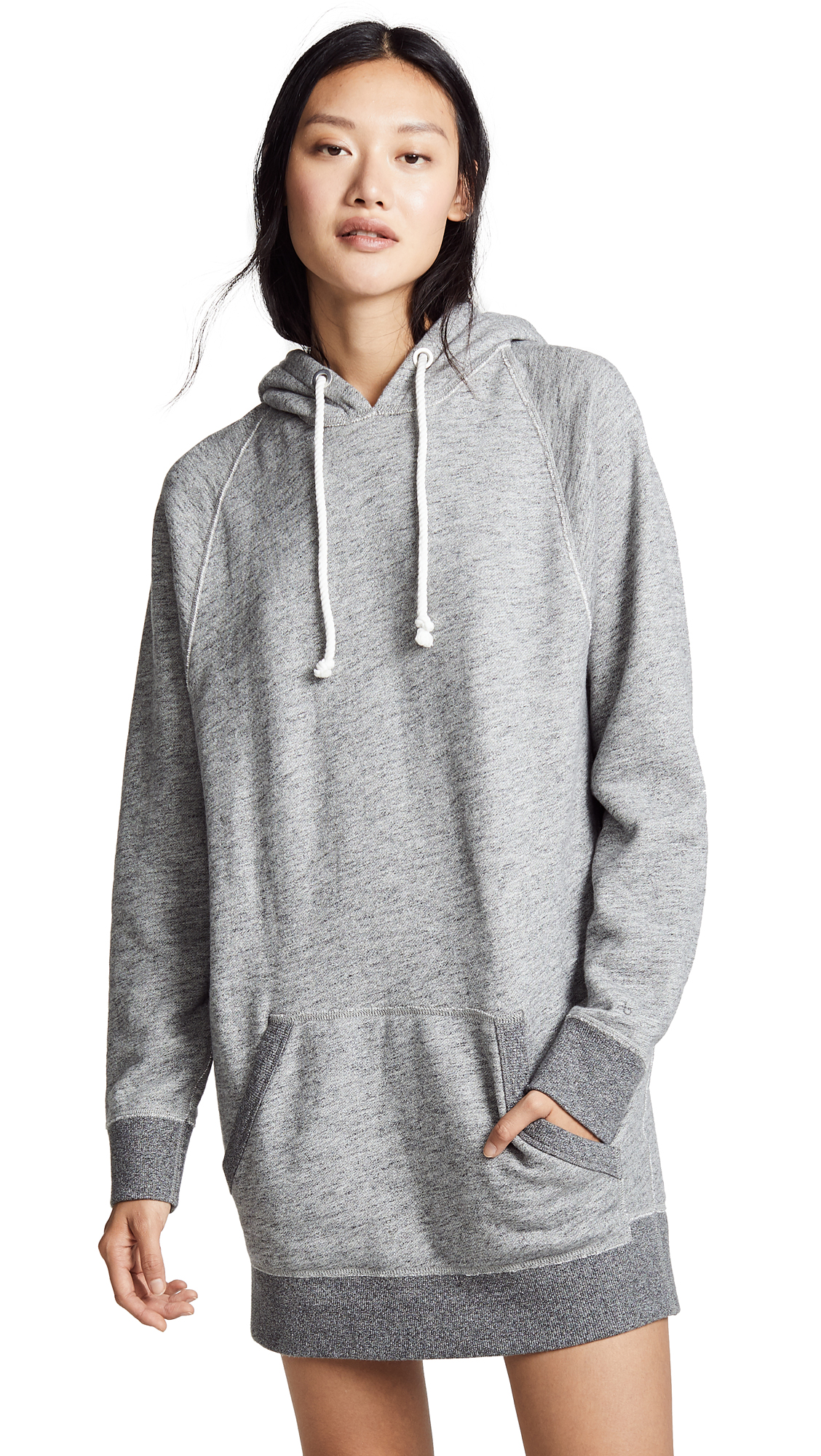Rag And Bone Grey Racer Hoodie Dress