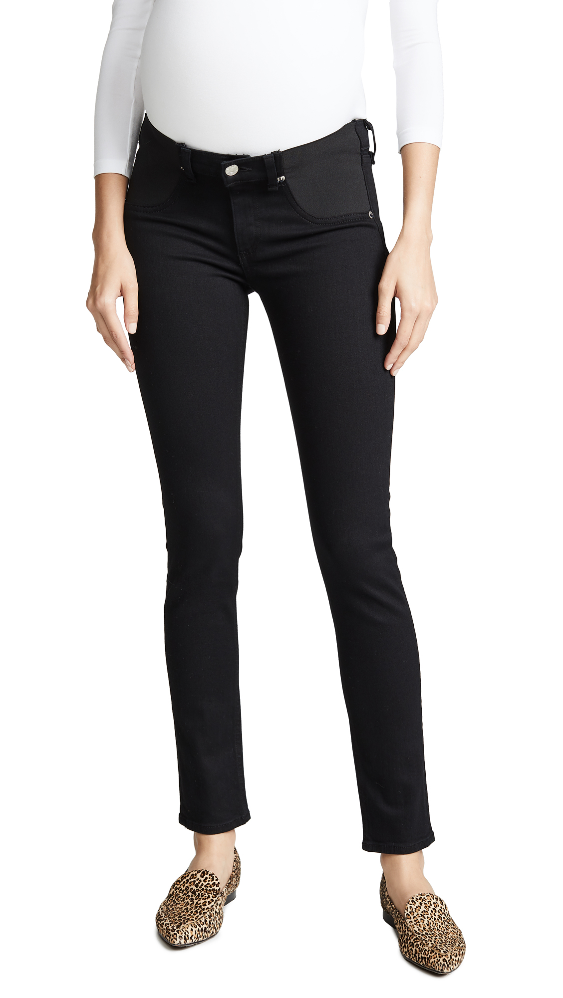 Rag & Bone/JEAN Maternity Skinny Jeans In Coal