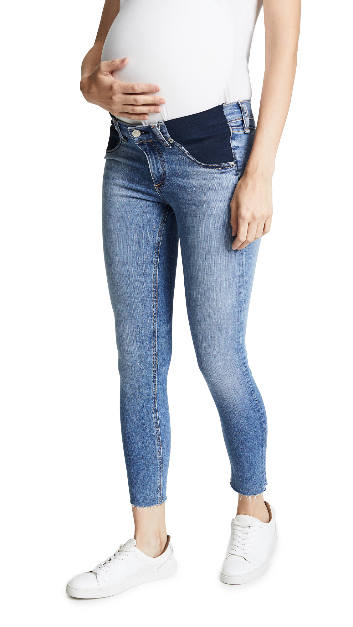Cropped Maternity Jeans