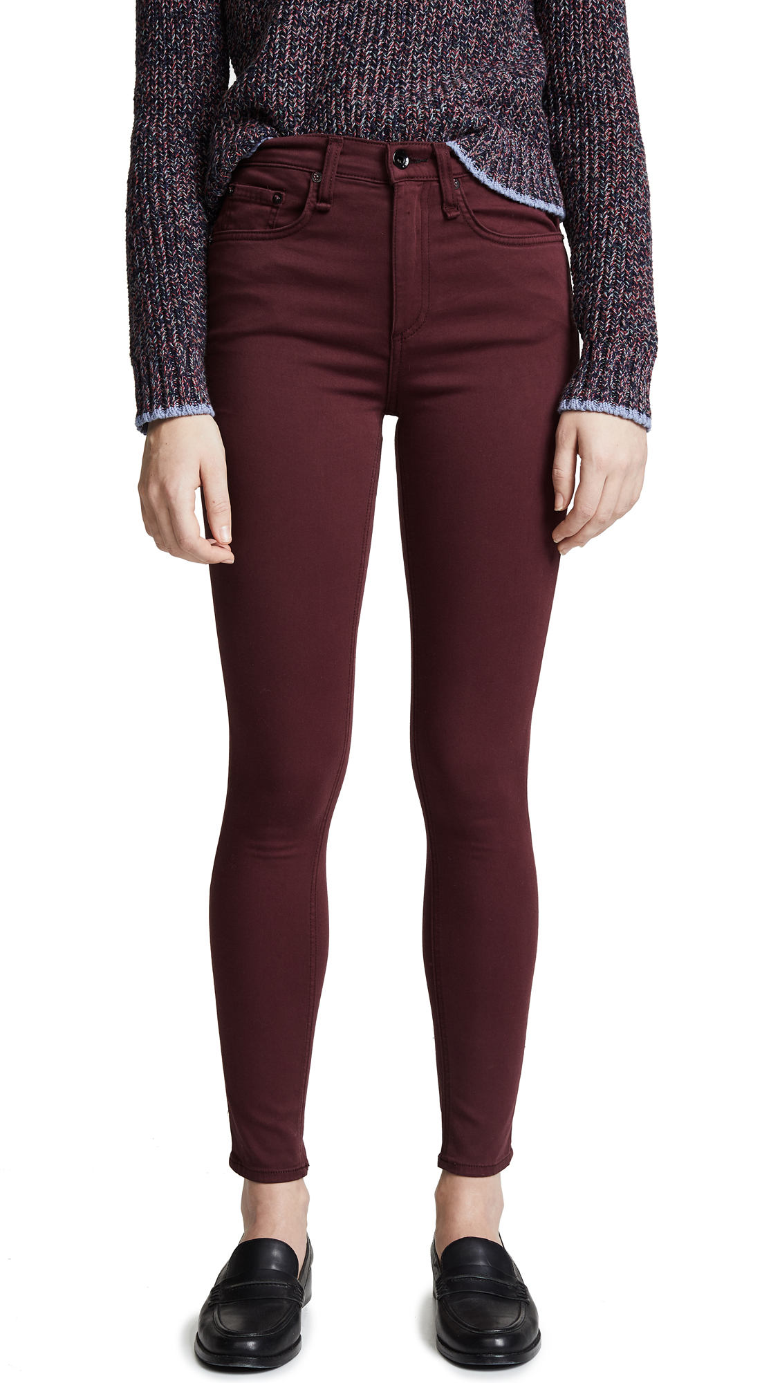 Rag & Bone/JEAN The Plush High Rise Ankle Skinny Jeans