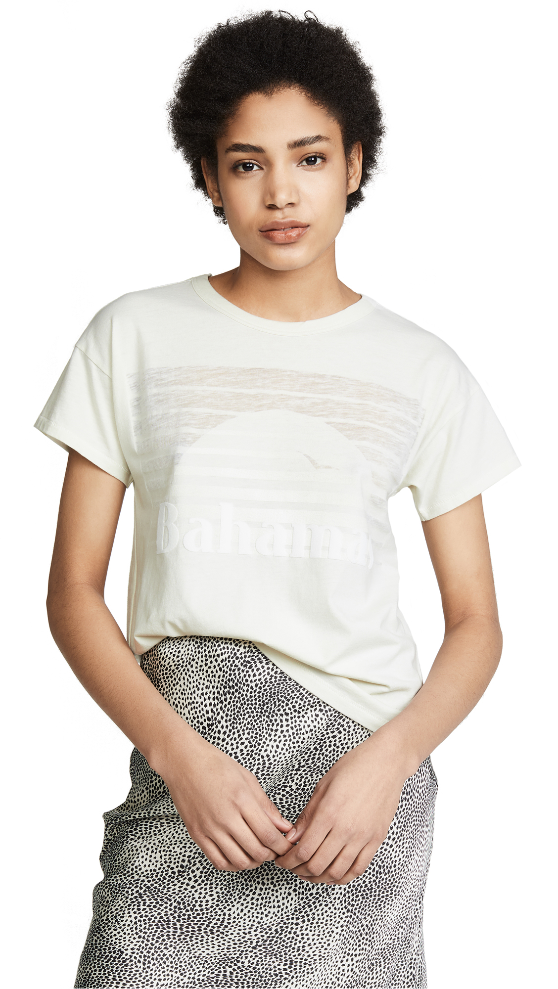 Bahamas Cotton-Blend T-Shirt - White Size L in Ivory