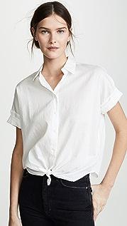 Rag & Bone/JEAN Рубашка с завязкой