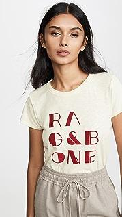 Rag & Bone/JEAN Felt Logo Tee