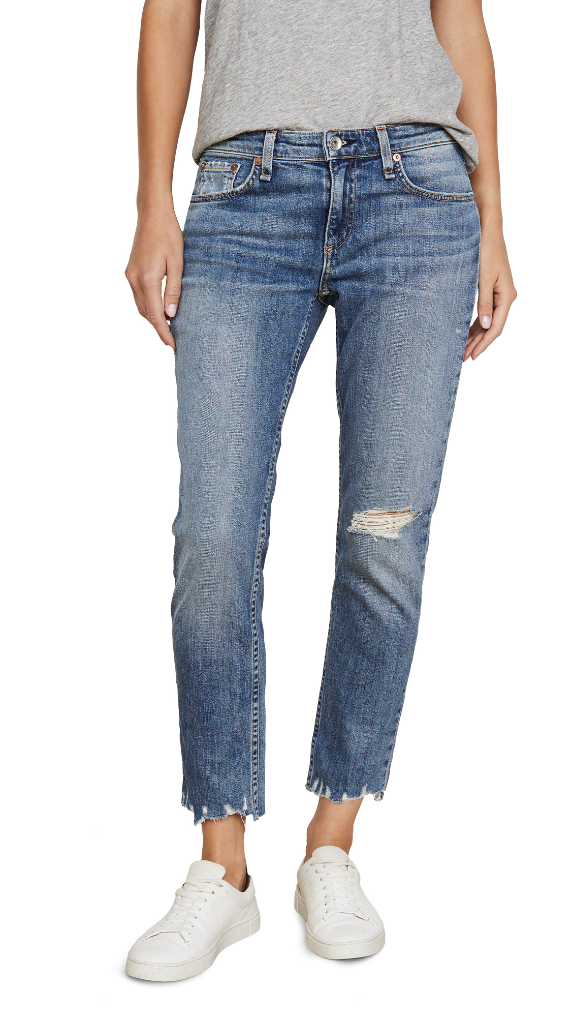 Buy Rag & Bone/JEAN online - photo of Rag & Bone/JEAN Dre Low Rise Slim Boyfriend Jeans