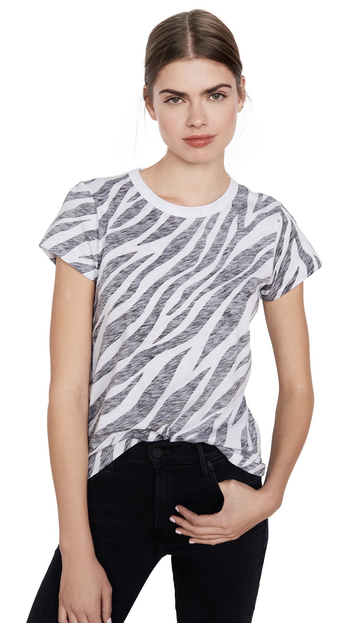 Buy Rag & Bone/JEAN online - photo of Rag & Bone/JEAN All Over Zebra Tee