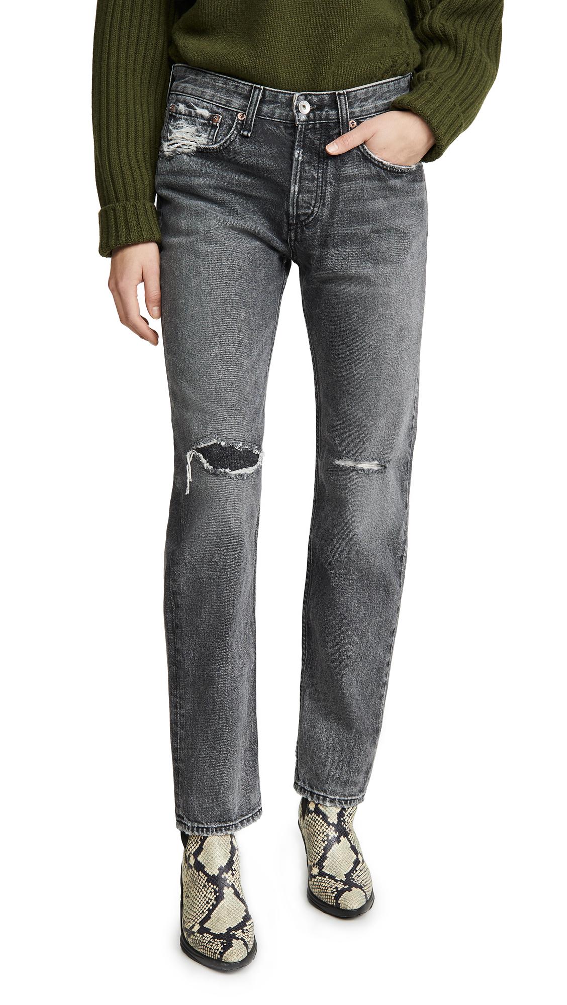 Buy Rag & Bone/JEAN online - photo of Rag & Bone/JEAN Rosa Mid-Rise Boyfriend Jeans