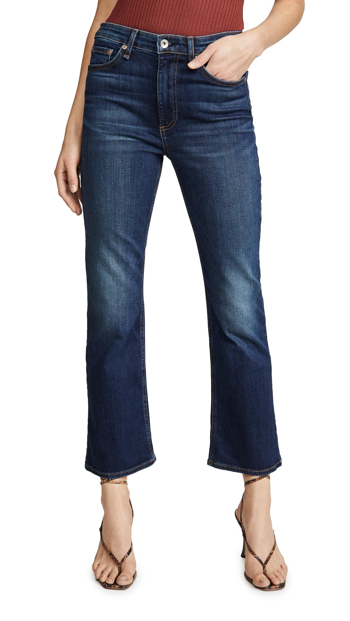 Buy Rag & Bone/JEAN online - photo of Rag & Bone/JEAN Nina High-Rise Ankle Flare Jeans
