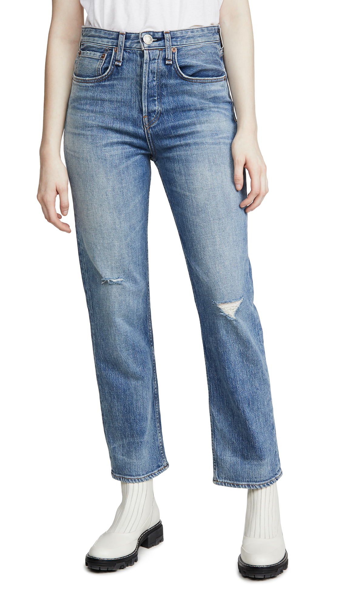 Buy Rag & Bone/JEAN online - photo of Rag & Bone/JEAN Maya High-Rise Ankle Straight Jeans
